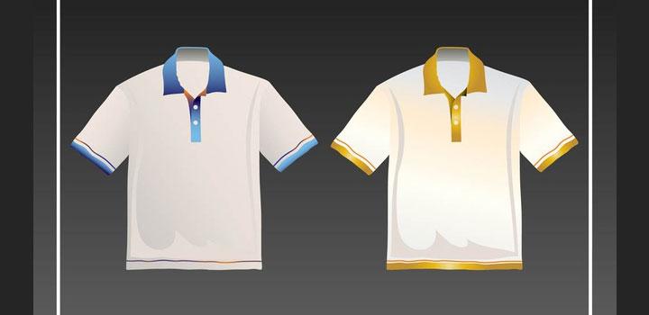 Camisas polo vectores gratis
