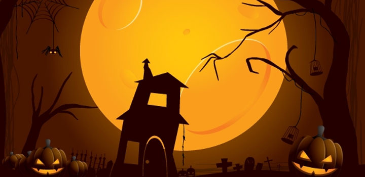 Fondo halloween vectores gratis