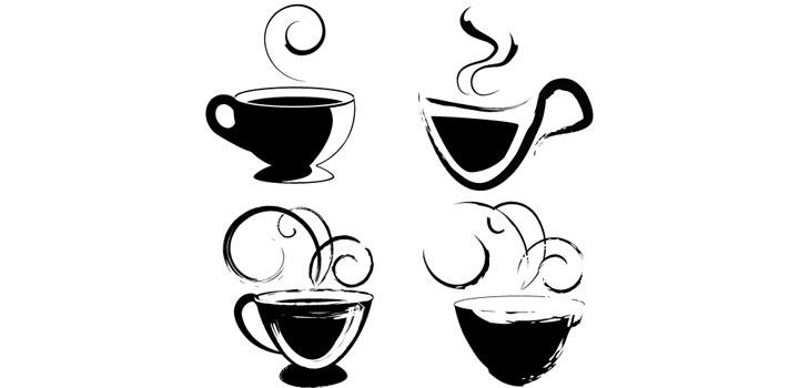 Iconos cafe vectores gratis