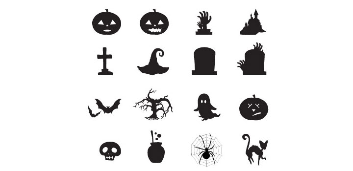 Iconos halloween vectores gratis