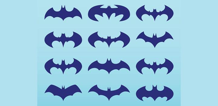 Logos batman vectores gratis