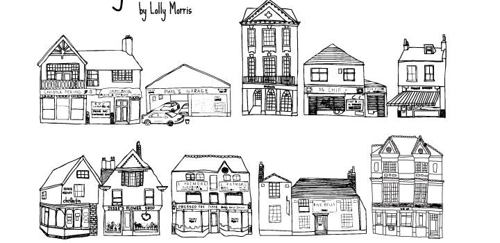 Casas doodles vectores gratis