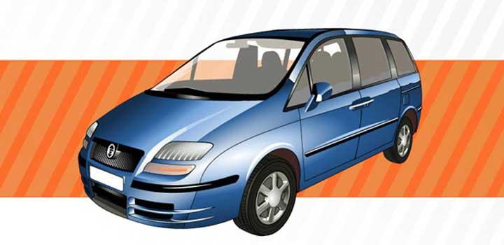 Carro azul vectores gratis