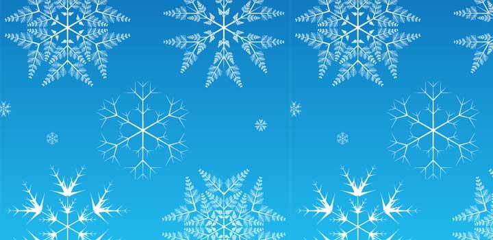 Copos nieve vectores gratis