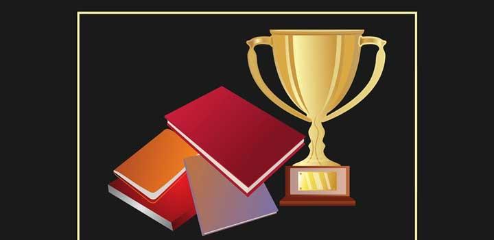 Libros trofeos vectores gratis