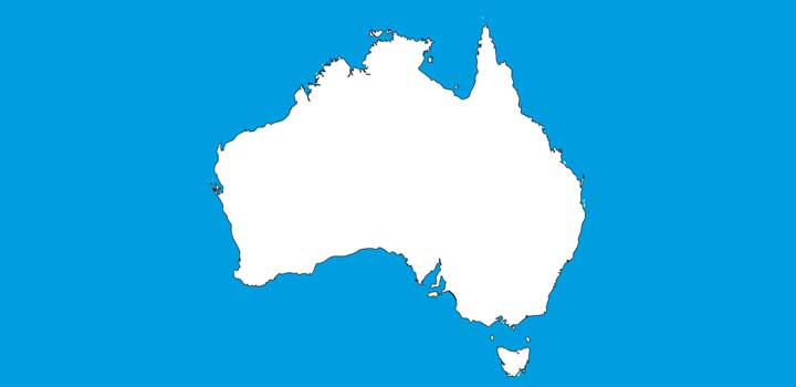 Mapa australia vectores gratis