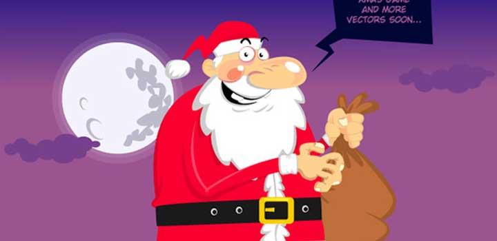 Santa vectores gratis
