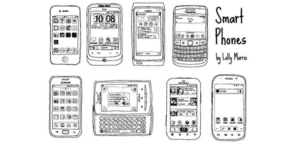 Smart phones vectores gratis