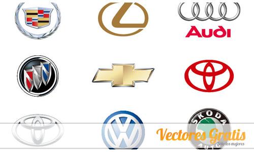 Marcas de autos vector